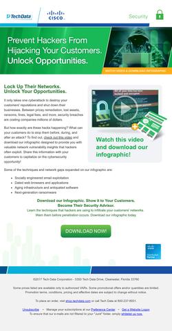 Tech Data Cisco Lead-Gen Campaign