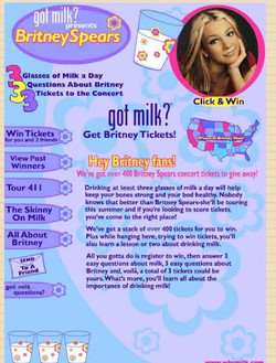 Got Milk? Britney Contest Site