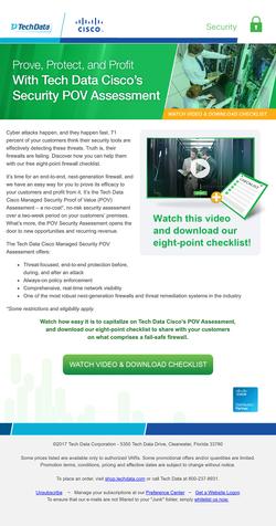 Tech Data Cisco Security Assesments