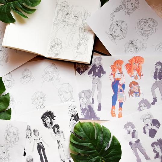 tests de character design pour Ambre