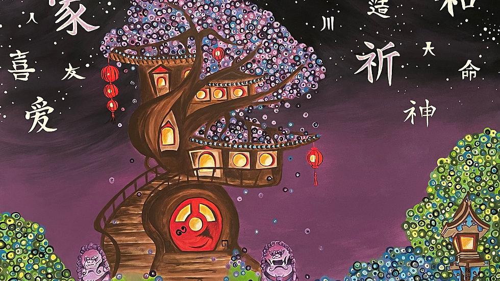 """China Magic"" 20"" x 30"" x 1"" canvas print"