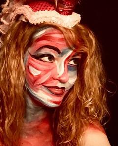 Rebecca Rose self painting