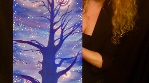 """""""I give you the world"""", 12"""" x 36"""" Canvas Print"""