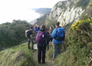 Staff Join Students on Walking Leader Training Course