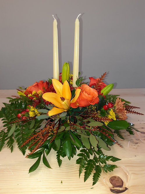 Harvest Centerpiece - Double candle