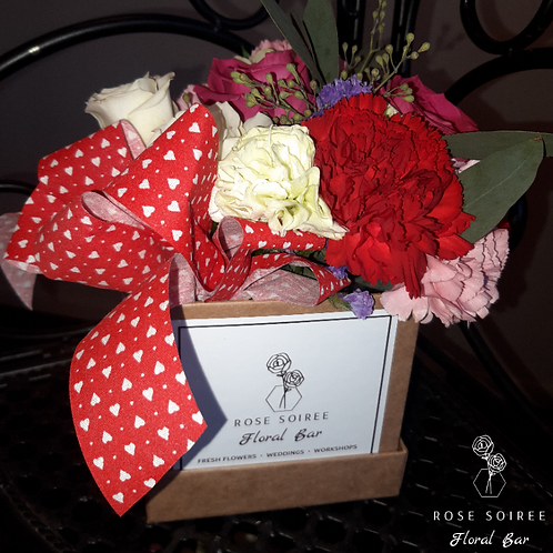 Naturally Yours~ Valentine's Kraft cube box