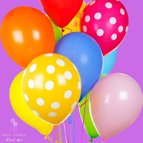 Colorful latex balloon