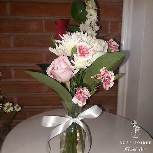 Valentine's Day Trinity Rose Vase