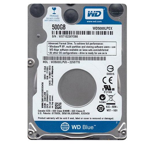 HD NOTEBOOK 500GB 5400RPM/6GB/S WD5000LPCX - WESTER DIGITAL+
