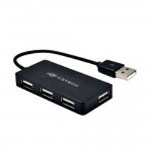 HUB USB 4 PORTAS USB 2.0 HU-220BK PRETO C3 TECH