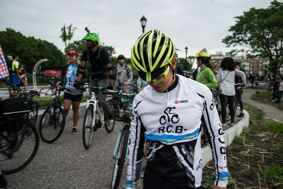 Local bike parties bring together cyclists, venders, and community leaders.