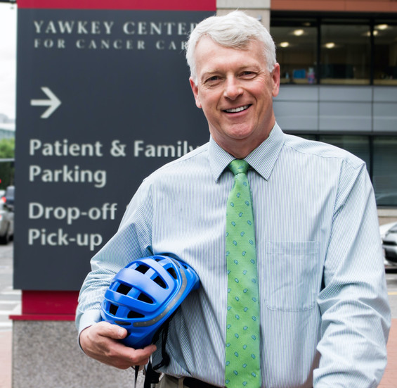 VP of Dana Farber Ambulatory Services is an avid cyclist, working to increase commuter safety among the Longwood Medical area's heavy presence of ambulances.