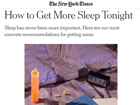How to Sleep with Coronavirus Anxiety - as seen in the New York Times