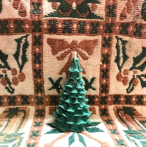 Yule tree candle
