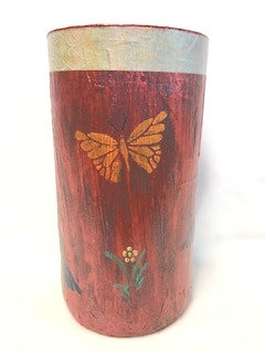 Decorative Vase 4 -Butterflies