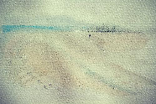 Misty Beach walk Largs small card