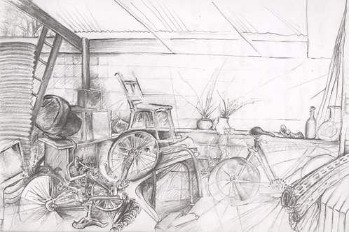 Shed interior (pencil)
