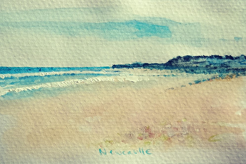 Newcastle beach 1 small card