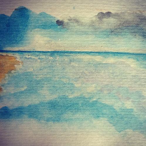 Sea and sky 1 small card