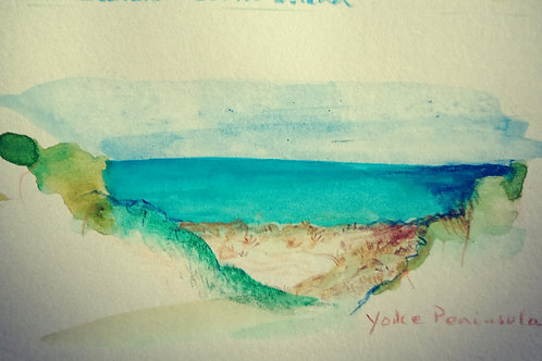 Yorkes beach scene 11 small card