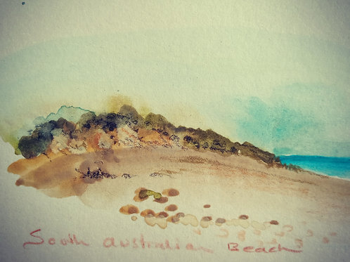 South Australian Beach small card
