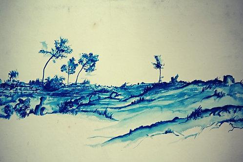 Eastern Cape Landscape in Blue