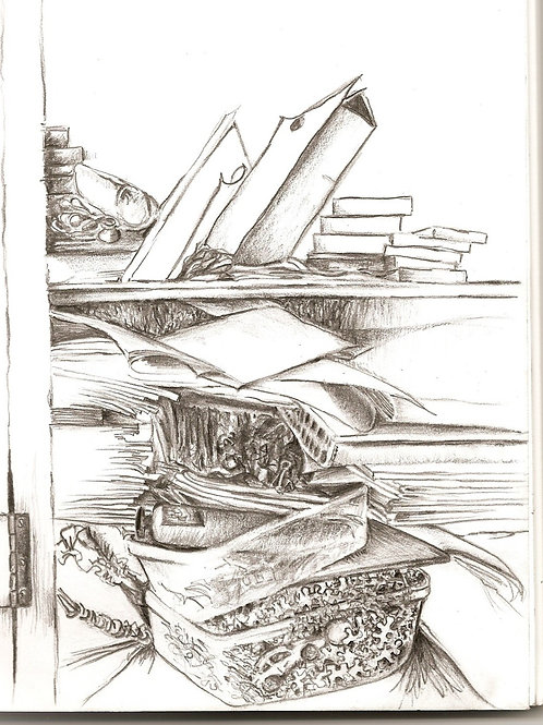 Closet interior (pencil)