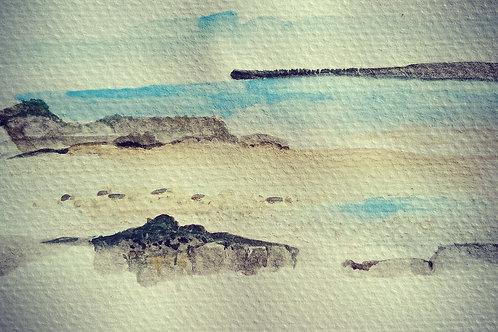 Yorkes beach scene 7 small card