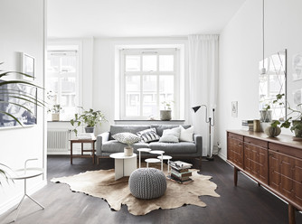 White and earth tones
