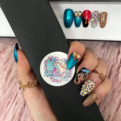 Princess Jasmine False Nails