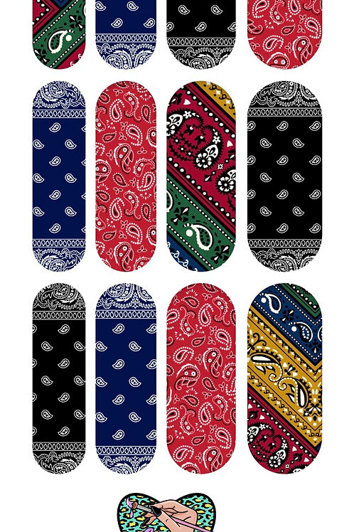 Bandana Pattern Decals