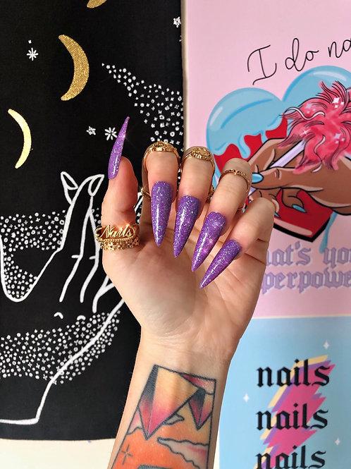 Mermaid Glitter False Nails