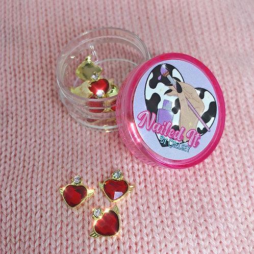 KAWAII CHARM - Red Crystal Heart