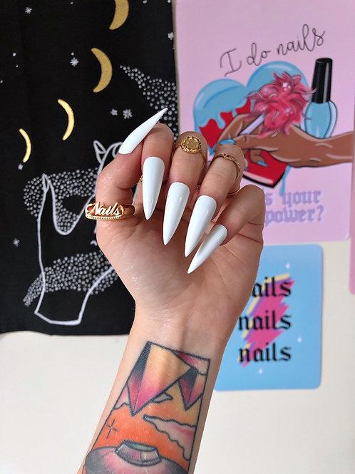 White False Nails