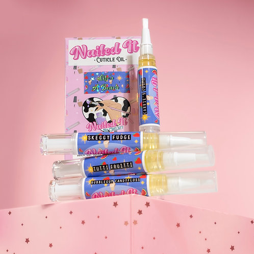 LIFE's A BEACH Cuticle Oils - 4 Pack Summer Scents