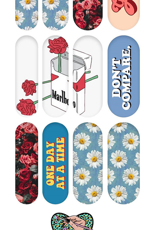 GROOVY FLOWERS Decals