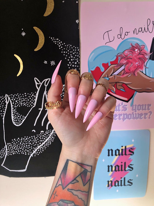 Baby Pink False Nails