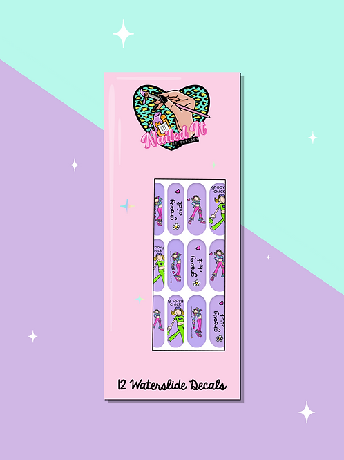 GROOVY CHICK Decals