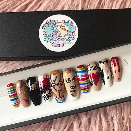 Chucky and Tiffany False Nails