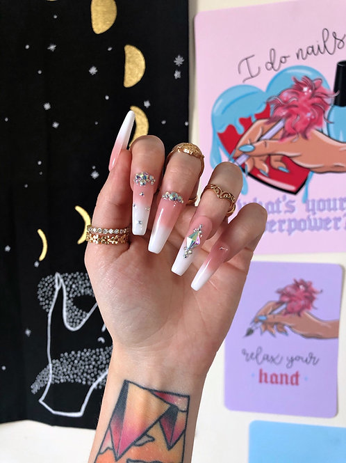 French Manicure Crystals