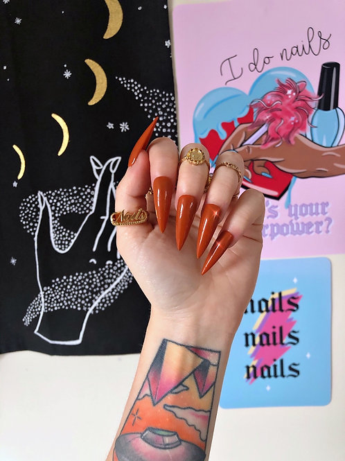 Nude - Cinnamon False Nails