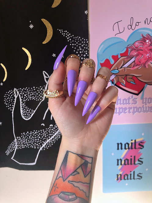 Lilac False Nails
