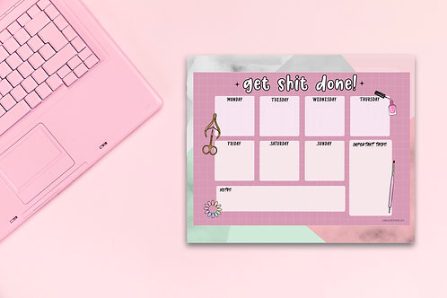 Get Shit Done - Weeky Planner