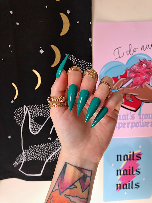 Jade Green False Nails