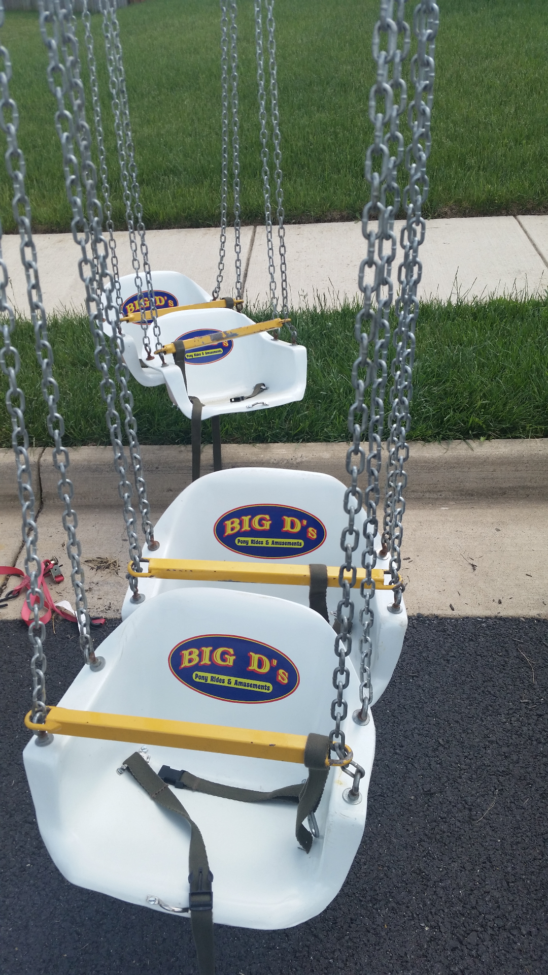 Swing ride decal
