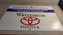Auction sponsor banner