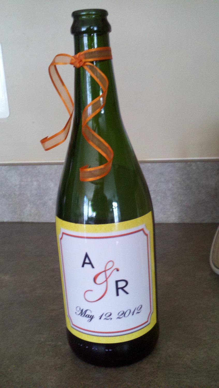 wine bottle decal