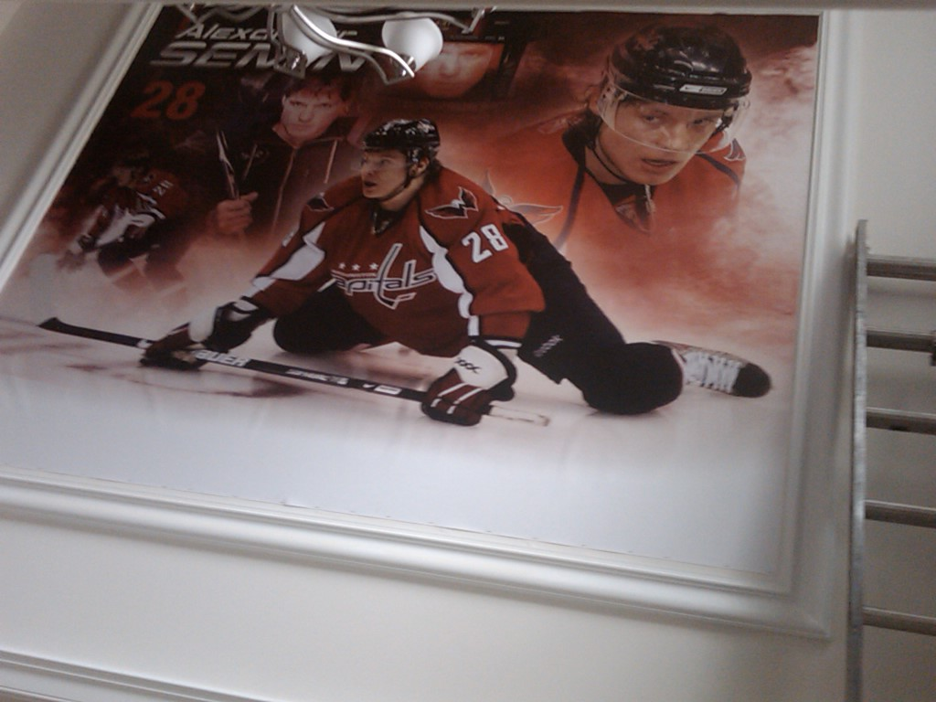 Washington Caps action banner