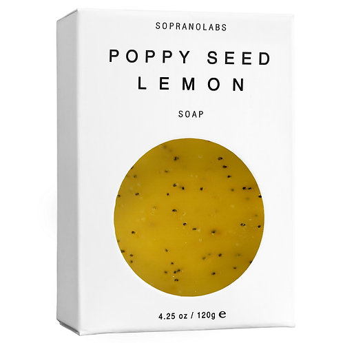 SopranoLabs Poppy Seed Lemon Vegan Soap