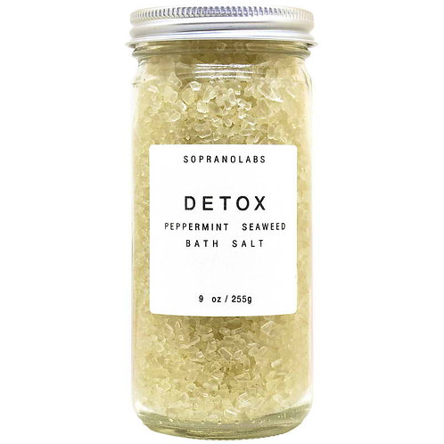 SopranoLabs Detox Peppermint Seaweed Bath Salt